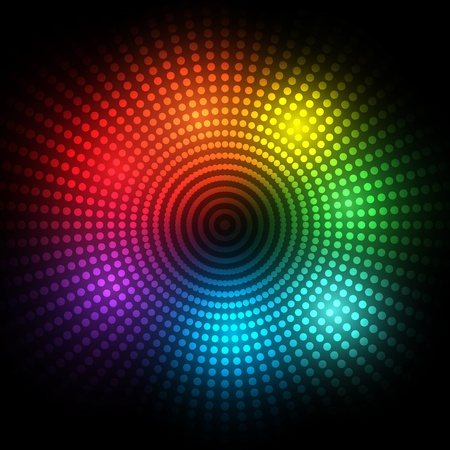 vision nocturna: EPS10 puntos de colores de fondo vectorial abstracto