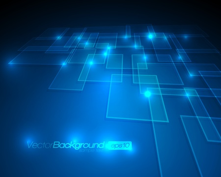 virtual technology: EPS10 - Virtual Technology Vector Background Illustration
