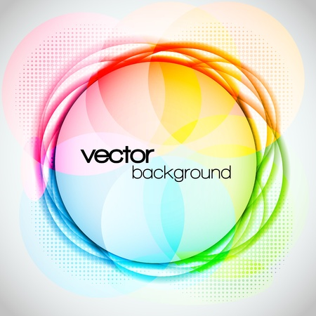 EPS10 Abstract Colorful Circle Background Vector Vector