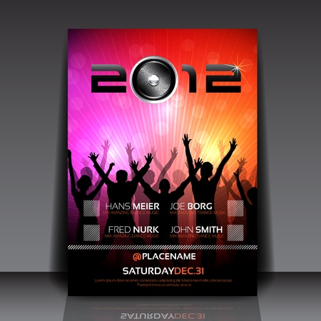EPS10 Flyer Design with Dancing Young People Vector