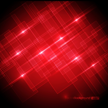 EPS10 Red Shiny Squares with Text - Vector Background Vector