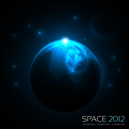 EPS10 Vector Space Background Vector