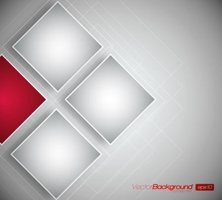 Zakelijk Vierkanten Achtergrond - Vector Design Concept