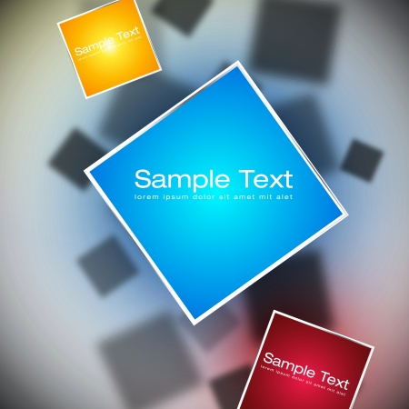 Abstract Squares Background | EPS10 Vector Design Vector