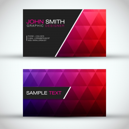 Red and Blue Modern Business - Card Set   Vector