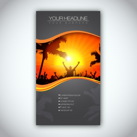 folleto: Horario de verano Folleto plantilla Vectores