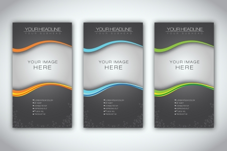 Set of Blank Brochure Template    Illustration