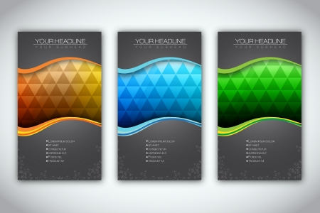 book publisher: Set of Brochure Template