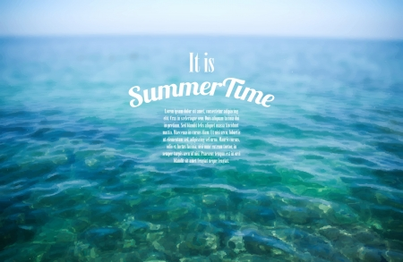 Realistic Summertime Background Vector