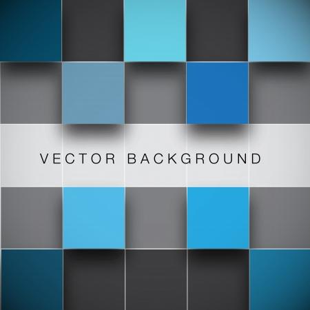 objetos cuadrados: Bloques de la estructura sin fisuras de vectores de fondo Vectores