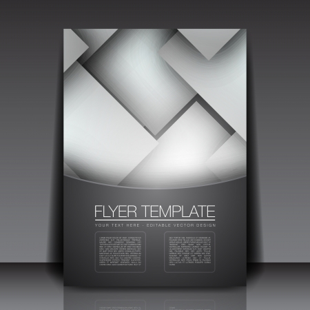 Blank Bright Squares - Flyer Template  Design Vector