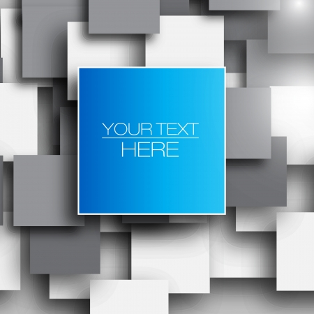 corporate background: Blank square background for Your Text - Realistic 3D Vector Background Illustration