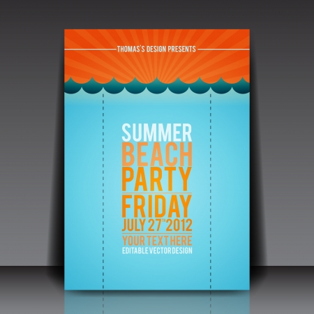 blank brochure: Summer Beach Party Flyer