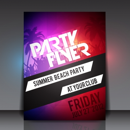 beach party people: Summer Beach Party   Flyer Template