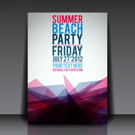 beach party: Abstract Summer Party Flyer Template   Illustration