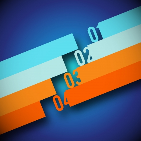 Abstract Number Line Background - Vector Illustration Stock Vector - 14429168