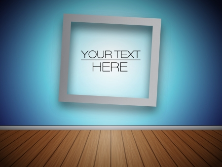 3D Blank Photo Frame at the Wall for Your Text or Photo  Vector