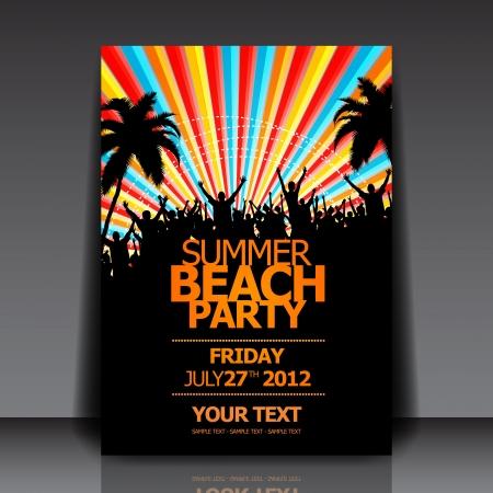 Summer Beach Party   Flyer Template Stock Vector - 14429167