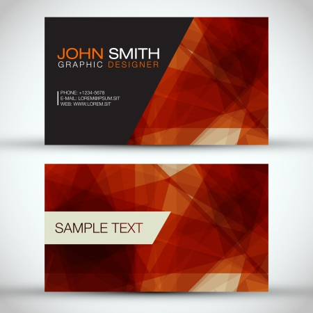 Orange Modern Business-Card Set    Vector