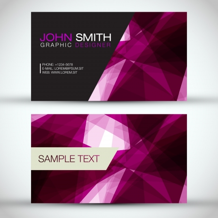 Purple Modern Business-Card Set   Vector