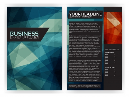 book cover design: Blue Modern Brochure Template   Illustration