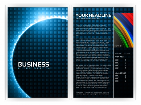Business Brochure Template Stock Vector - 14428976
