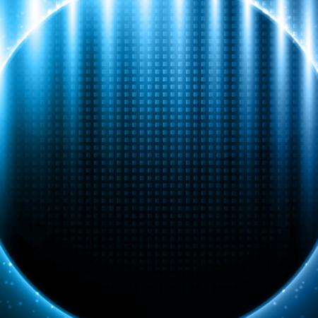 effetti di luce: Blu effetti di luce sul design in metallo modello