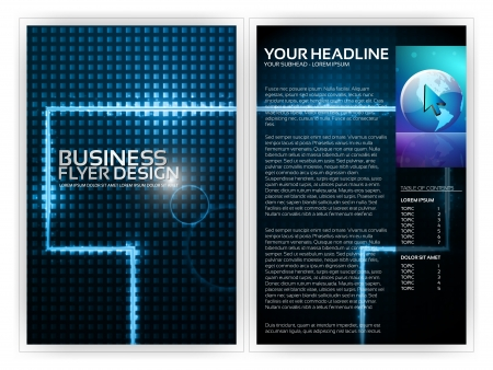 book publisher: Business Flyer Template   Illustration