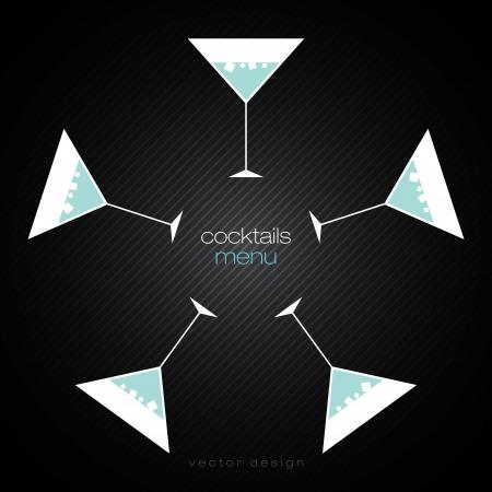 Cocktails Menu Card Design Template Vector