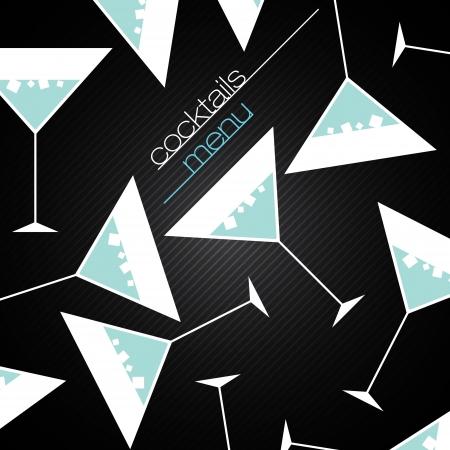Cocktails Menukaart Ontwerpsjabloon
