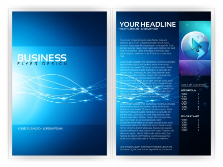 Business Flyer Template  Illustration