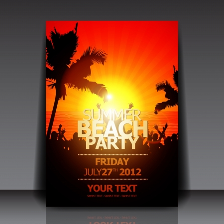 summer beach party: Summer Beach Party Flyer