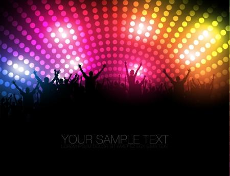 luz focal: La gente del Partido de fondo - Las personas j�venes bailando