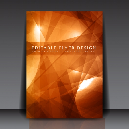 Abstract yellow and brown flyer template Stock Vector - 14425663