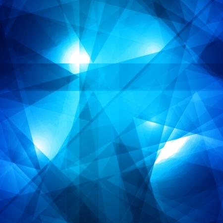 poligonos: Resumen de fondo azul para el dise�o Vectores