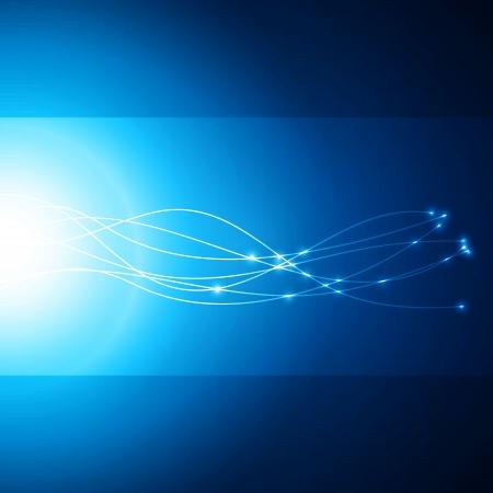 vezels: Abstracte netwerk blauwe achtergrond