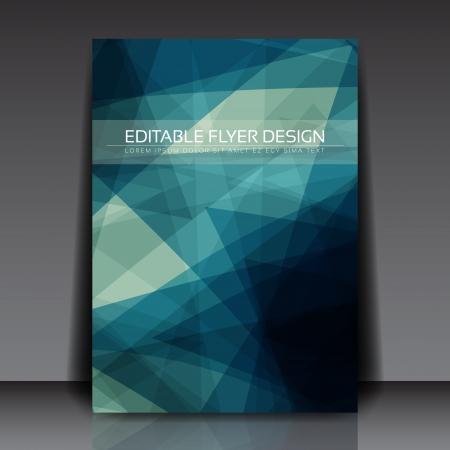 Abstracte blauwe flyer Vector Illustratie