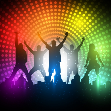 Partygänger Hintergrund - Dancing Young People