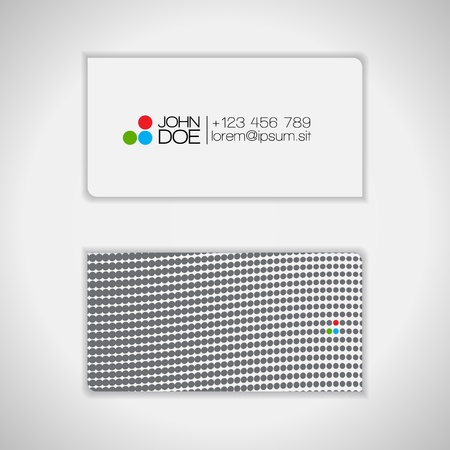 Dots Design Business Card   Stock Vector - 14425229