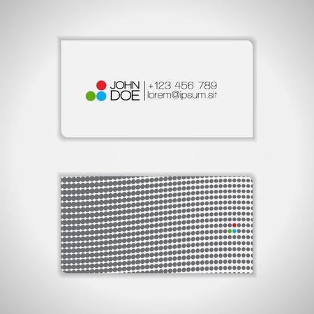 Dots Design Business Card   Vector