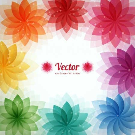 abstract flowers:  abstract flower frame background Illustration