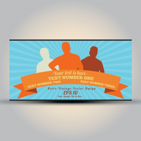 Retro style business card - vintage   Vector