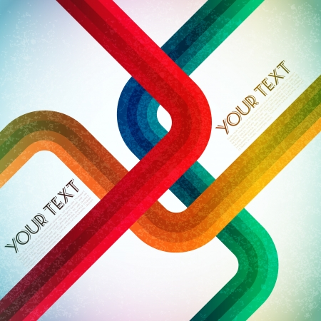 yellow pages: illustration of colorful lines on abstract background Illustration