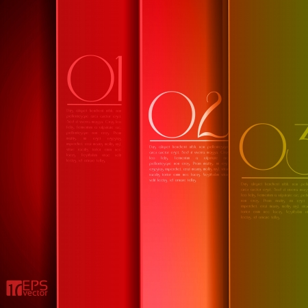 Design template - graphic or website layout  - red to green and yellow Stock Vector - 14430034