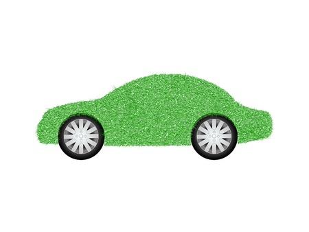 energy crisis: Green Energy Car Concept   Illustration