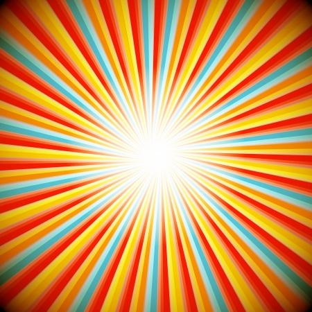 fondo de circo: Fondo abstracto de la explosión de estrellas Vectores