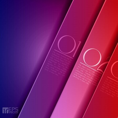 cut line: Design template - graphic or website layout vector - purple to red
