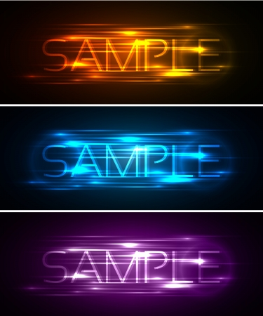 abstract futuristic website banner set  illustration Stock Vector - 14422434