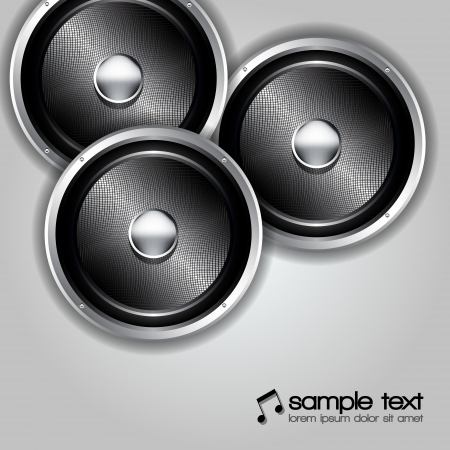 Audio speakers  background Vector