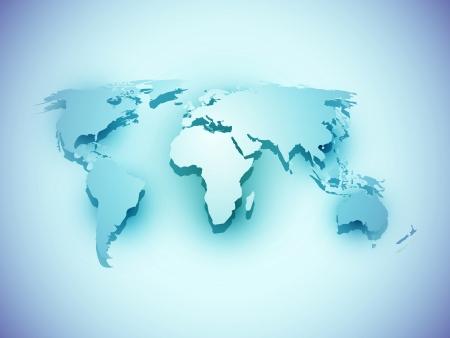world atlas: Blue business world map